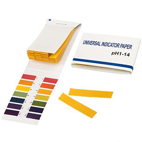 TRIXES Lackmuspapier mit einem pH-Wert-Bereich 1-14, Packung mit 80 Teststreifen (Papier)