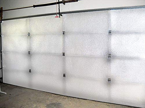 US Energy Products Commercial Garage Door Insulation KIT Reflective Foam White 7 Panel 14'Hx14'L