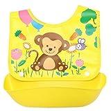 Kongqiabona-UK Delantales para bebés, bebés recién Nacidos, niños, niñas, Delantales Impermeables, cómodos, de algodón Completo, para Comer, cenar, Baberos, Toalla de Saliva para bebés