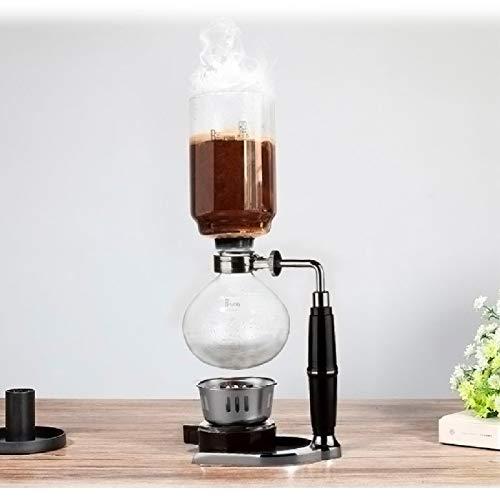 xiaoxioaguo Succion pot à thé set siphon pot aspirateur machine à main résistant à la chaleur verre siphon machine à café filtre