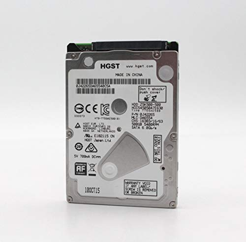 """HGST Cinemastar Z5K500 - Hard disk da 500 GB, 5400 rpm, SATA III, 32 MB Cache da 2,5"""", HCC545050A7E630, HDD"""
