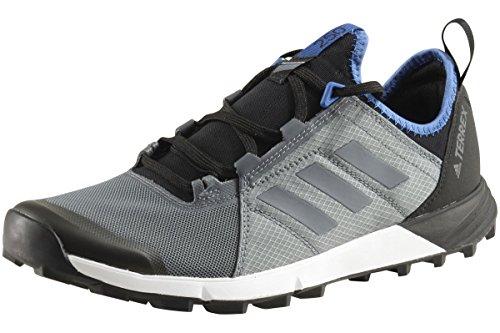 adidas Men's Terrex Agravic Speed Hiking Shoe - Vista Grey/Vista Grey/Core Blue 9.5