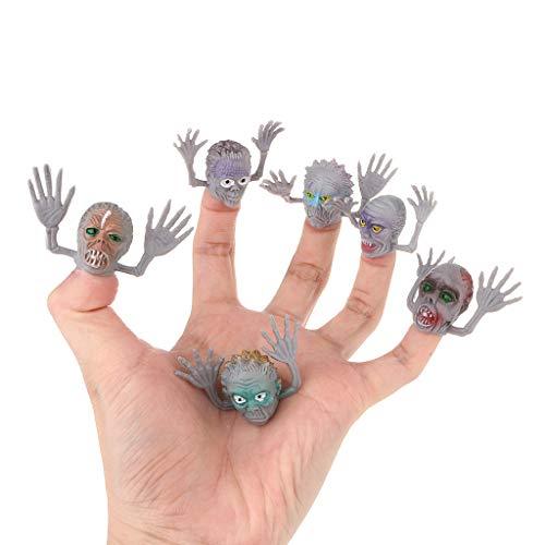 Hergon 6 Pcs / Set Effrayant Ghost Style Doigt Marionnette Enfants Heure du Temps Décor Halloween, KidsToy