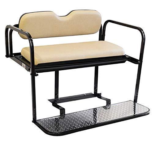 Gtw Steel Rear Flip Seat for Club Car Precedent Golf Cart - Buff