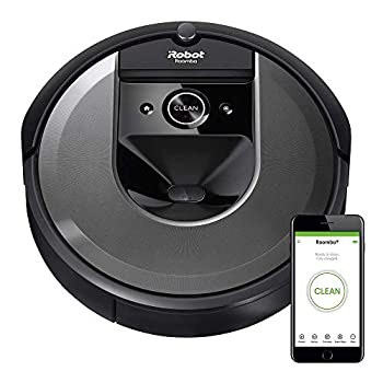 iRobot Roomba i7  7150  Robot Vacuum- Wi-Fi Connected Smart Mapping Works with Alexa Ideal for Pet Hair Works With Clean Base Black