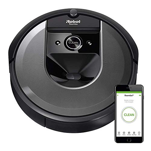 iRobot Roomba i7 (7150) Robot Vacuum- Wi-Fi Connected, Smart Mapping, Works with Alexa, Ideal for Pet Hair, Works With Clean Base, Black