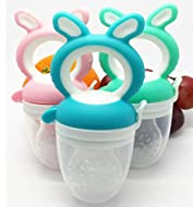 HoneyBun - Baby Pacifier Feeder and Fruit Dummy. Colour Blue Includes Medium and Large Teats for 3 M...