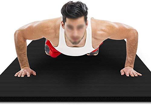 GDFEH Esterilla Yoga Mats de entrenamiento Ejercicio NBR Fitness Fitness Estera de espuma Ejercicio Yoga Mat transportable Home Gym Mat para hombres, Mujer y niños Deslice alta densidad para Pilates G