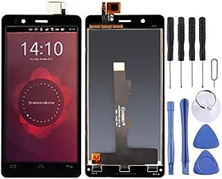 Reparationssats för mobiltelefoner LCD-skärm och digitaliserare full montering för BQ Aquaris E4.5 (svart) reservdel (färg...
