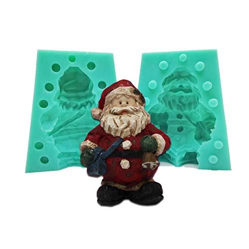 feichanghao 3D Santa Mold Santa Silikonform Santa Kerzenform Handarbeitsform Verwendet Für Kerzenkuchen, Seife DIY Figuren Handwerk
