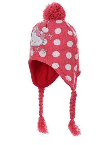 Hello Kitty - Gorro peruano para bebé niña, color rosa de 9 a 36 meses rosa oscuro 50 cm (12-24 meses)
