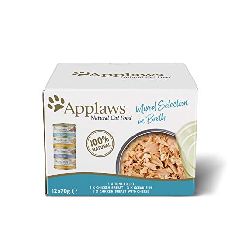 Applaws 100% Natural Wet Cat Food, Multipack Fish and Chicken Mixed...