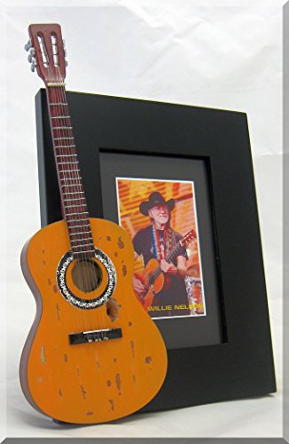 Willie Nelson Guitare Miniature Cadre photo