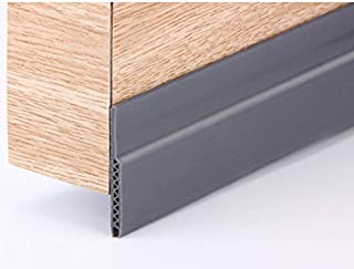 Draft Stopper - Energy Saver Door Draft Stopper - Noise Cancellation - Arden - Under Door Draft Stopper - Weather Sealant - Money Saver - Brown, White and Grey - Stop Drafts! (Grey)