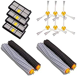 4 X Extractor Brushes With Filters With Side Brushes Replacement Parts Kits For Irobot For Roomba 800 900 Series Vacuum Cleaner