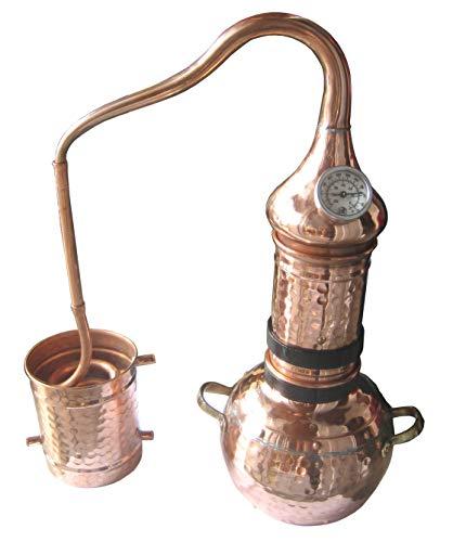 Dr. Richter 2 Liter Destille aus Kupfer mit Kolonne und Thermometer - ätherische Öle 2L (anmeldefrei)