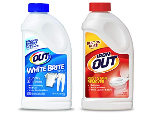 OUT White Brite Laundry Whitener and Iron Multipurpose Rust Stain Remover Powder