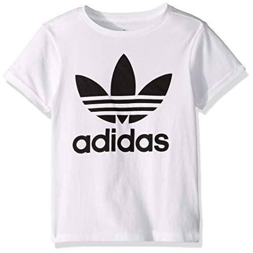 adidas Originals boys Trefoil Tee Shirt, White/Black, Medium US