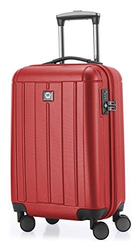 HAUPTSTADTKOFFER - Kotti Matt - Handgepäck Hartschalen-Trolley Bordgepäck Kabinentrolley Erweiterbar, TSA, Doppelrollen, 56 cm, 37 Liter, Rot