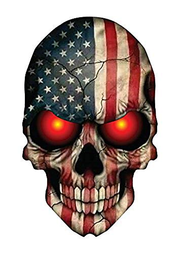 OTA STICKER Skull Skeleton Devil Demon Monster Ghost Zombie American Flag Military Support Decal Helmet Cell Phone CASING Laptop Notebook Scrapbook Luggage Motorcycle Truck Water Bottle