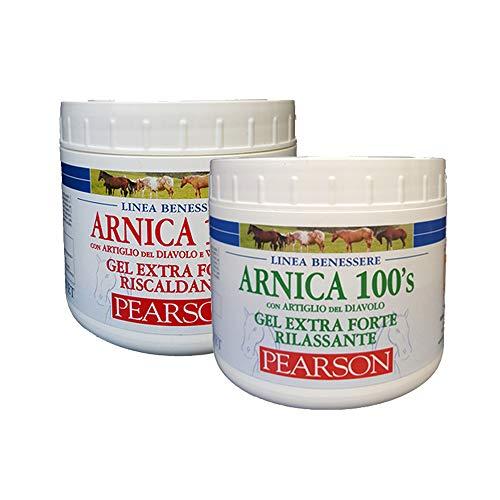 ARNICA 100'S Gel Extra Forte Rilassante + RISCALDANTE Pearson 500ML + 500ML