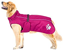 1. Please pay attention: The style of dog jacket is run larger,only fit for medium or large dog, please choose one size smaller. 2. Waterproof dog coat: Great quality waterproof and windproof dog coat. Quick dry. 3. Dog coats waterproof: Strong durab...