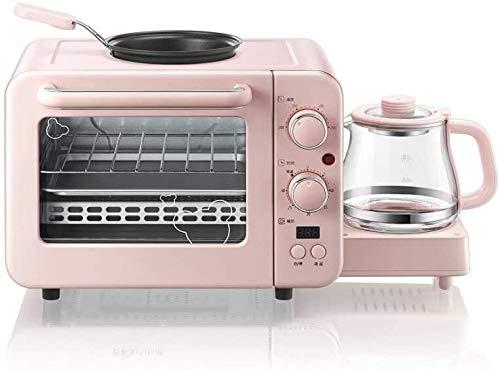 Bxiaoyan Tostadora con función de Acero Inoxidable, Bandeja de Migas extraíble, Tostada de Manera Uniforme y rápida para Varios Tipos de máquina de Desayuno de Pan, Mini Horno eléctrico para el hogar