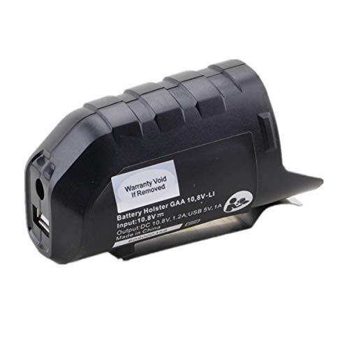 Monllack Adaptador de Carga USB, Adaptador de Carga USB convertidor de Cargador Bhb120 para GDR 10.8-Li Gwi 10.8V-Li GOP 10. 8V-Li Li-Ion Battery