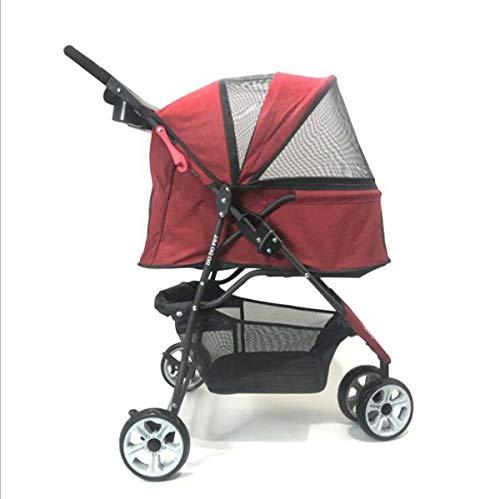 AZLLY Reiswagen voor huisdieren Kinderwagen Draagbare Dubbele Huisdier Kinderwagen Toepasbaar Op Schoonheid Winkelen Reizen Rijden Om Een Dokter Zie