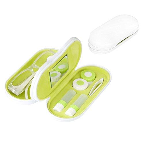 balvi-TwinWeißesEtuifürBrillenundKontaktlinsenmitSpiegel.EnthältKontaktlinsenbehälter,ZweiAufbewahrungsbehälterundeinePinzette.