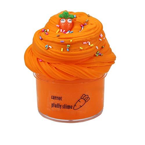 SWZY Carrot Putty Slime,Zanahoria Naranja Cloud Slime Kit de Limo de Mantequilla Suave Clay Juguetes para aliviar el estrés para niños Adolescentes Adultos para aliviar el estrés 200ML
