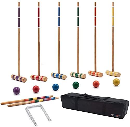 LSWY Premium 6-Spieler Krocket Set für Erwachsene & Kinder (mehrere Arten verfügbar) (Color : Classic)