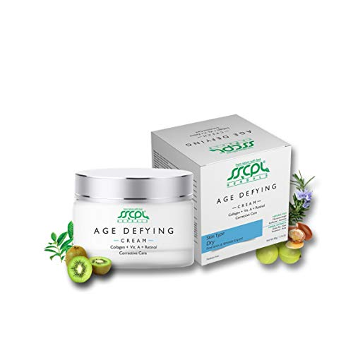 SSCPL Herbals Age-Defying Cream Enriched with Collagen, Vitamin A & Retinol Provides Nourished, Moisturized, Hydrating and Healthy Skin – 50g