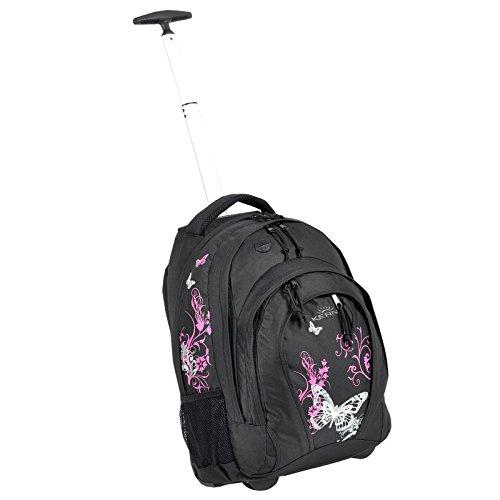 Zaino Bestway zaino per la scuola per bambino/bambina Trolley diverse motivi ad esempio Flower Butterfly Dragon-33litri colori assortiti nero Papillon Schwarz Pink