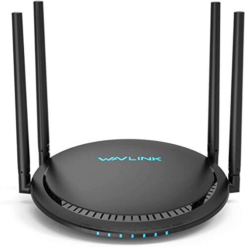 WiFi Router,WAVLINK 1200Mbps WiFi Router,High Power Gigabit Wireless Wi-Fi Router,Dual Band 5Ghz+2.4Ghz with 2 x 2 MIMO 5dBi Antennas Internet Router for Online Game&HD Video