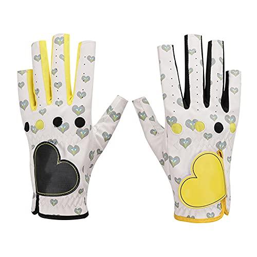 GYN Frauen Golf Handschuhe,1 Paar rutschfest Verschleißfeste PU Damen Golfhandschuh,Outdoor-aktivitäten Golfhandschuh für Links und Rechts Hände,22#