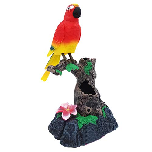Nettes elektronisches sprechendes Vogelspielzeug, das Sich bewegt und Tonaufzeichnung spricht Papagei sprechendes Spielzeug Kindergeschenk Nettes Tonspielzeug, Kinderspielzeug aufzeichnet