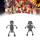 S-SNAIL-OO 1set Stainless Steel Hot Dog Marshmallow Roaster, Hot Dog Marshmallow Roasting Sticks Adult, Men and Woman Hot Dog Sticks for Campfire, Bonfire & Grill, Skewer Sticks Not Included