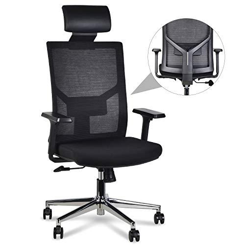 LENTIA Chefsstuhl Bürostuhl aus Netz Schreibtischstuhl hohe lehne Drehstuhl Computerstuhl mit...