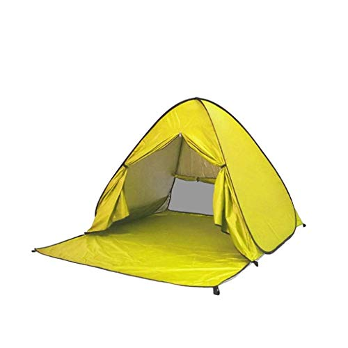 HIGHKAS Outdoor Automatic Pop up Instant Portable Cabana Beach Tent Anti UV Canopy Sun Shade Sport Shelter Sun Shelter for Family Kids Baby Outdoor Camping Fishing Picnic Hiking