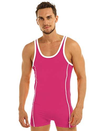 Hombres Sexy Undershirt de lucha del Traje de baño para hombre camiseta de lucha libre traje de baño leotardo bañador Boxers pantalones cortos leotardo camiseta de lucha ropa interior mono de gimnasia