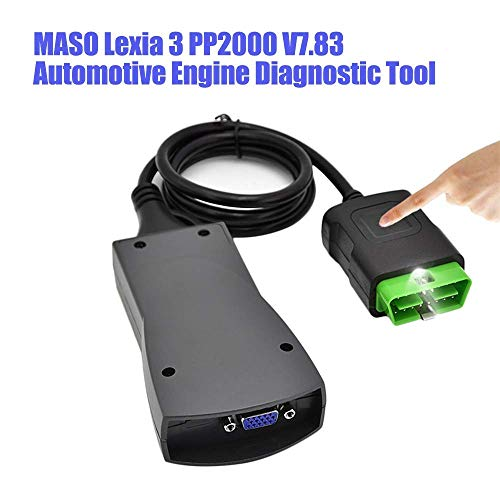 MASO Lexia 3 PP2000 V7.83 Outil de diagnostic de moteur automobile OBD2 Scanner V48 V25 Diagbox Lexia-3 Noir