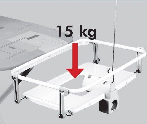 """XXL Eurogold Profi Bügeltisch """"Professional Harmony"""" 130 x 48 cm – mit absenkbarer Ablage für Dampfstationen – Qualität Made in Europe - 3"""