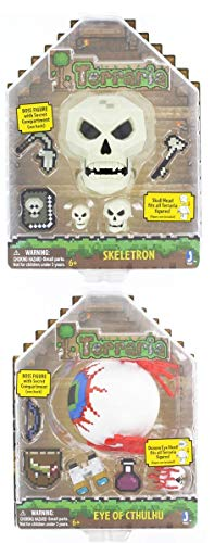 Toynk Terraria Deluxe Action Figures Set of 2 Eye of Cthulhu and Skeletron