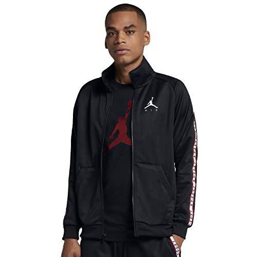 Nike JSW Jumpman Trikot Jkt Herrenjacke, Schwarz (BLACK/BLACK/WHITE)
