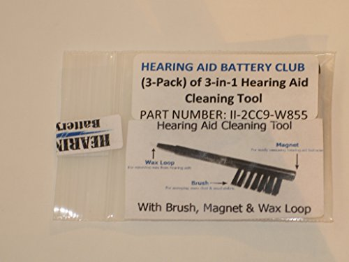 3-in-1 Hearing Aid Cleaning Tool - 3 Pack