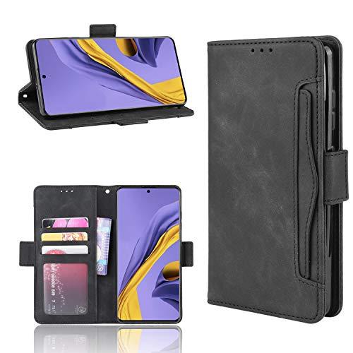 Snow Color Galaxy S20 Hülle, Premium Leder Tasche Flip Wallet Case [Standfunktion] [Kartenfächern] PU-Leder Schutzhülle Brieftasche Handyhülle für Samsung Galaxy S20 - COBYU020315 Schwarz