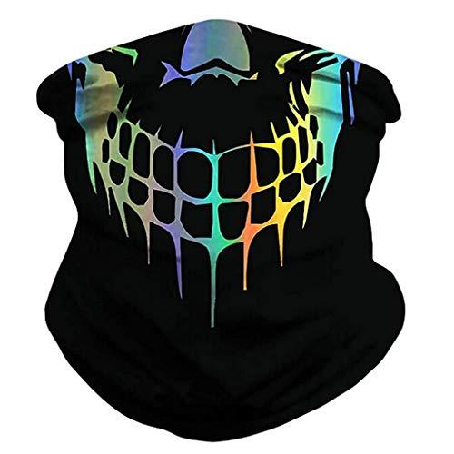 Rovinci Multifunktionstuch Gesichtsmaske Motorradmaske 3D Stern Muster Bedrucktes Sturmmaske Bandana Schlauchtuch Halstuch Schutztuch für Motorrad Fahrrad Ski Paintball Karneval Kostüm Face Shield