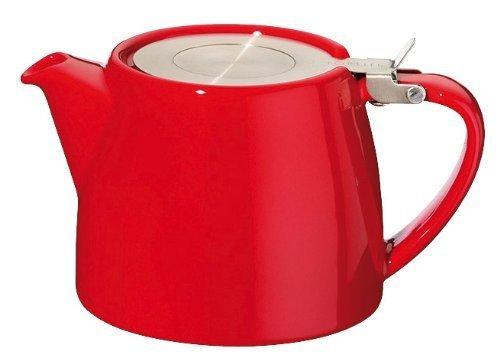 FORLIFE FST-530-RED Stump Teekanne, 530 ml, Rot, keramik