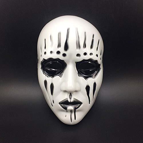 XDDXIAO Slipknot Joey Jordison Maske Für Erwachsene Scary and Horror Halloween Maske Maskerade Cosplay Party Masken Mascara de Halloween,Schwarz